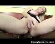 Voluptuous Blonde Granny Black Anal - scene 5