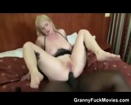 Voluptuous Blonde Granny Black Anal - scene 7