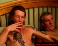 Smoking Gay Couple Tugging And Fucking - scene 9