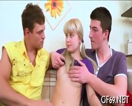 Virgin Having Threesome Sex - scene 4