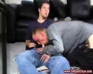 Straight Amateur Twinks Jerking Together - scene 8