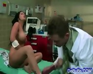 Slutty Young Brunette Hard Fucked By Her Doctor - scene 1