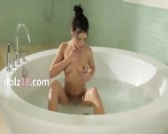 True Model In The Bath Tube - scene 1