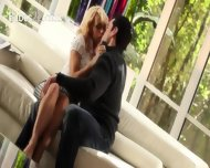 Ultra Sleek Blonde And Her Boyfriend - scene 1