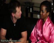 Ebony Masseuse Drenched - scene 12