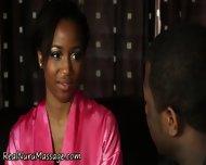 Ebony Masseuse Drenched - scene 2