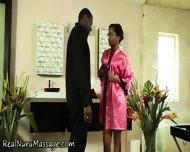 Ebony Masseuse Drenched - scene 4