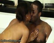 Ebony Masseuse Drenched - scene 7