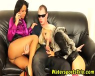 Horny Clothed Piss Lovers - scene 8