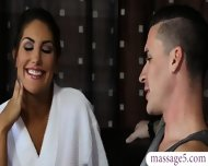 Busty Masseuse August Ames Gives Nuru Massage And Pounded - scene 1