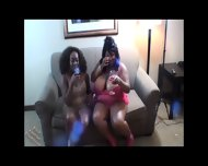 Two Sexy Ebony Lesbians - scene 3