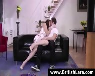 Mature British Lady Lara In Stockings Wants Sex With Young Guy - scene 9