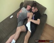 Gorgeous Hunky Foot Pals Licking Each Others Sexy Bare Feet - scene 2