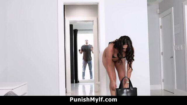 Business Lady Dominated By Skinhead