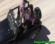 Drone Peeps On Sex In Jeep - scene 9