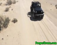 Drone Peeps On Sex In Jeep - scene 4