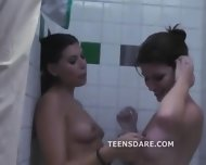 Teen Shower Turns To Lesbian Sex - scene 3