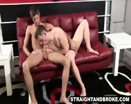 Straight Hunk Sucking On A Hard Cock For Some Money - scene 2