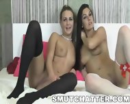 Two Sexy Lesbians Making Out On Their Web Cam - scene 4