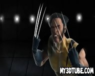 Busty 3d Cartoon Babe Getting Fucked By Wolverine - scene 2