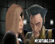 Busty 3d Cartoon Babe Getting Fucked By Wolverine - scene 7