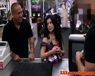 Tattooed Latina Pawnshop Facialized - scene 1