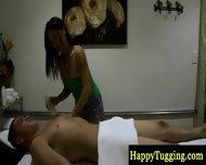 Real Asian Masseuse Makes Dude Horny - scene 8