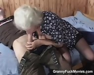 70yo Horny Granny Sucks Young Cock - scene 5