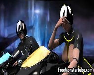 3d Tron Babe Sucking Cock And Getting Fucked Hard - scene 2