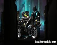 3d Tron Babe Sucking Cock And Getting Fucked Hard - scene 4