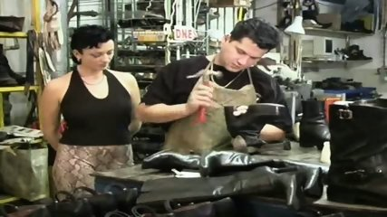 Employees having Sex in Shoefactory - scene 1
