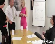 Femdom British Ladies Strip And Oil Cfnm Amateur - scene 8
