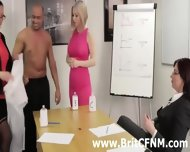 Femdom British Ladies Strip And Oil Cfnm Amateur - scene 10