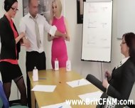 Femdom British Ladies Strip And Oil Cfnm Amateur - scene 7
