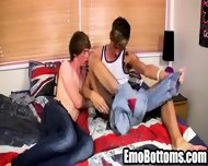 Horny Emo Twink Connor Levi Giving A Messy Blowjob - scene 12