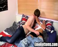 Horny Emo Twink Connor Levi Giving A Messy Blowjob - scene 6