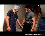 Hot Grandma Sucks A Younger Cock - scene 2