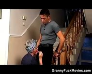 Hot Grandma Sucks A Younger Cock - scene 3