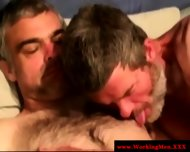 Straight Amateur Bear Threeway Dick Suck - scene 4
