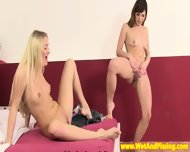 Pissing Teen Duo Play A Little Naked Bowling - scene 11