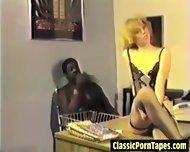 Interracial Vintage Office Ffm - scene 1