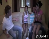 Filthy Whores In A Group Sex - scene 2