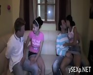 Filthy Whores In A Group Sex - scene 5