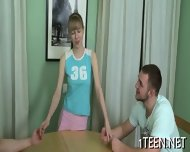 Babe Gets Her Hairy Twat Tamed - scene 3