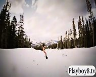 Badass Girls Hit The Snow For Boarding While Naked - scene 11