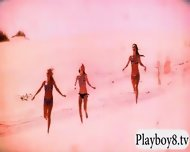 Badass Girls Hit The Snow For Boarding While Naked - scene 12