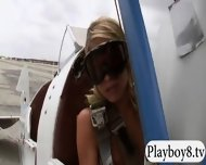 Badass Girls Hit The Snow For Boarding While Naked - scene 4