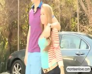 Dude Enjoying Busty Stepmom And Beautiful Teen Madison - scene 2
