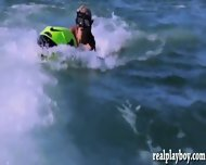 Sexy Hot Girls Enjoyed Seabob And Jetski In Topless - scene 4
