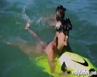 Sexy Hot Girls Enjoyed Seabob And Jetski In Topless - scene 5